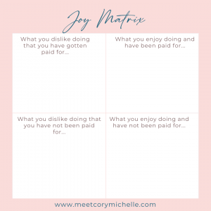 Joy Matrix Cory Michelle